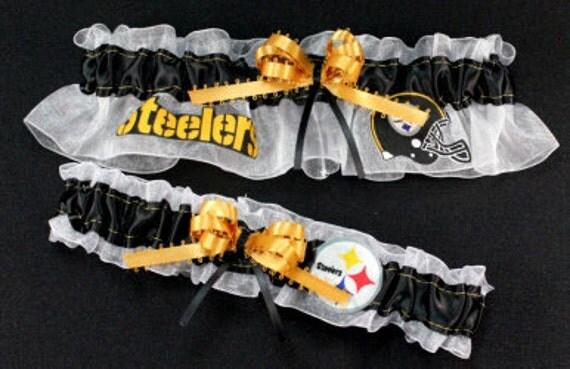 Pittsburgh Steelers Handmade NFL Garter Set