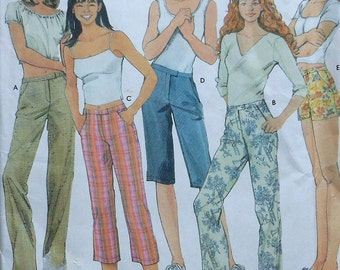 Pants and Shorts Sewing Pattern UNCUT Simplicity 7196 Sizes 14-20