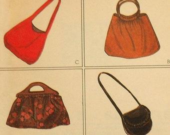Retro Purse Sewing Pattern UNCUT McCalls 6969 four different bags purses