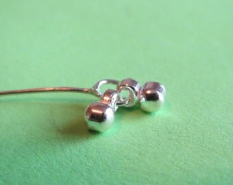 4 Sterling silver headpins with dangles - 3 inch 22 ga