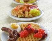 Miniature Mold Flexible Silicone Waffle Mold - 1/12 scale dollhouse food mold for miniature food and food jewelry projects
