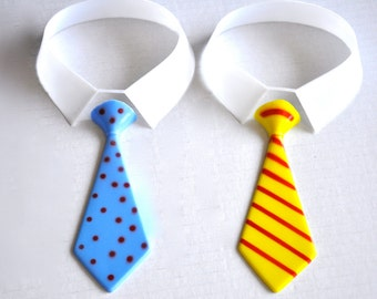 Father's Day Tie Collar Cake Topper Little Man