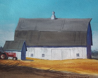 Douglas Mann's White Barns- Original Painting