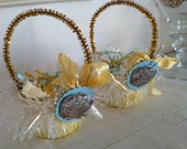 Vintage inspired birds nest nut/candy cup duo