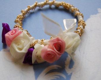 Doll-size Micro Wreath  Garland Bridesmaid Flowergirl Puppy