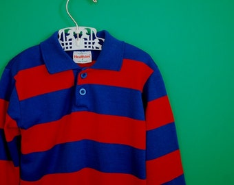Vintage 1980s Striped Shirt by Health-tex- Size 2T 3T