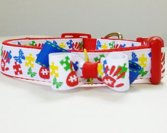 Theraphy Dog Collar - Autism Puzzle M/L