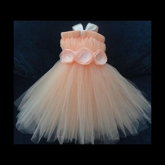 Sweet Peach Flower Girl Dress By StrawberrieRose On Etsy
