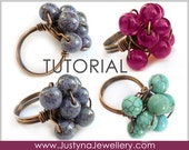 Wirewrapped Ring Tutorial, Beading Jewelry Tutoral, Cluster Ring Tutorial, Handmade Ring Tutorial, Cocktail Ring Tutorial, Wire Ring Pattern