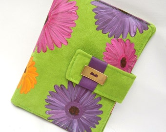 Kindle Fire Cover,Mini Tablet or e-reader Cover with Hand Painted Gerbera Daisies