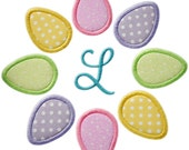 Easter Egg Circle Monogram - 2 Versions and 4 sizes