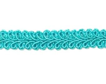 "E1901  Turquoise Gimp Sewing Upholstery Trim 1/2"" (E1901-TR)"