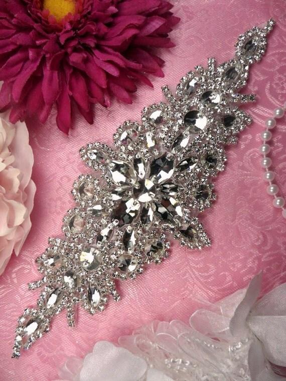 XR202 Bridal Sash Applique Crystal Rhinestone 9