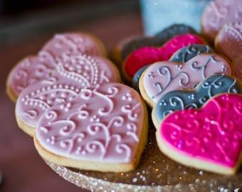 One Dozen Flourished Hearts - Valentine's Day