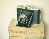 Memories - Vintage camera photograph, book photography, preppy, library decor, neutral colors, gift for him