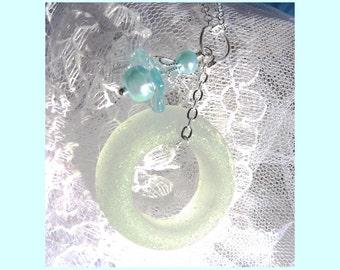 Scottish Bottle Top Sea Glass - Necklace  DC 8658