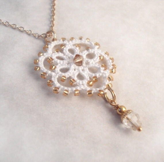 Lace Tudor Pendant in Tatting , Limited Edition 2 of 2 - Aster