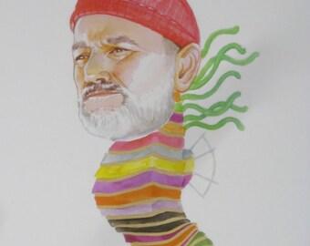 Bill Murray as a Crayon Ponyfish Print