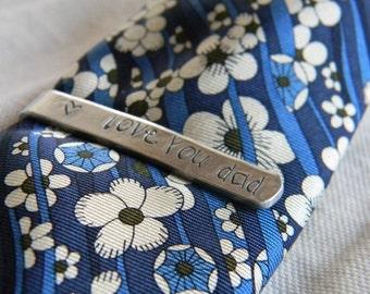 personalized tie bar, mens custom tie bar, gift for dad, groomsmen
