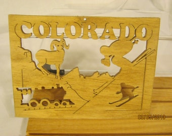 US STATE of COLORADO  Scroll Saw Plaque