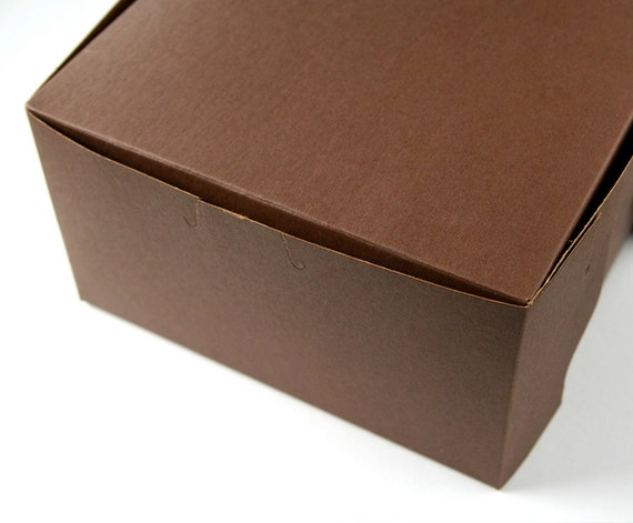 Pastry Boxes / Bakery Boxes - Chocolate Brown - 7x7x4 inches (5)
