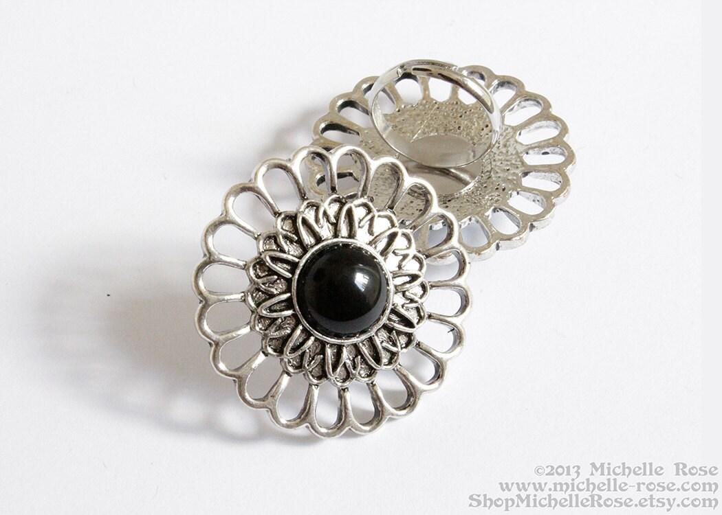 items similar to black onyx antique ring big chunky