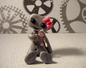 Sock Monkey Love Robot pink