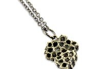 Honey Bee Comb Silver White Bronze Necklace - Bee