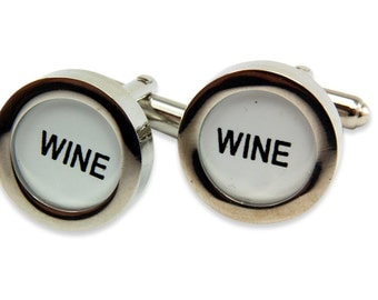 Wine Cufflinks - Cash Register Key Cufflinks - WINE KEYS by Gwen DELICIOUS Jewelry Design