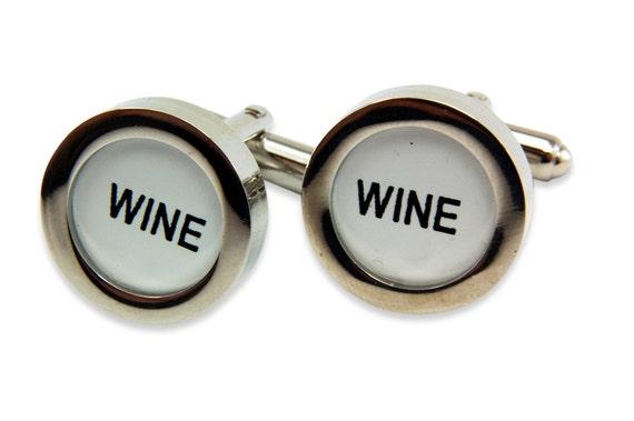 Wine Cufflinks - Cash Register Key Cufflinks - WINE KEYS by Gwen DELICIOUS Jewelry Design