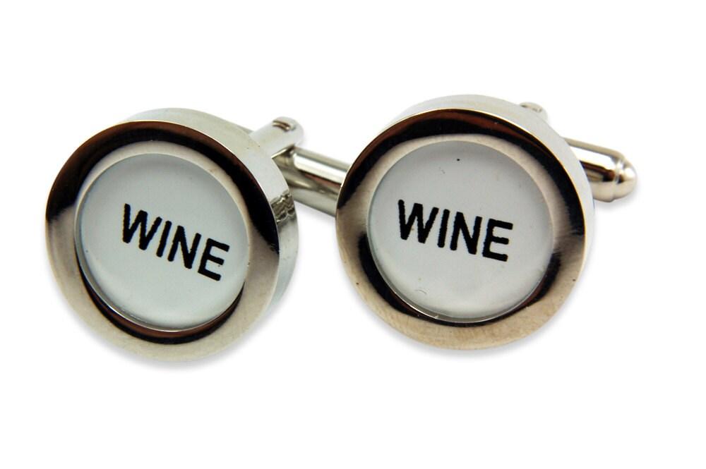 wine cufflinks cash register key cufflinks wine keys by. Black Bedroom Furniture Sets. Home Design Ideas