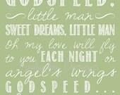 Godspeed (Sweet Dreams) lyrics 2 - green, 8x10, INSTANT DOWNLOAD