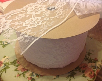 Beautiful Snow White Lace Wide Scalloped Edge Wedding Trims Crafts Fabric