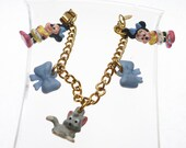 Disney Minnie Mouse Bow Charm Bracelet Kids Vintage