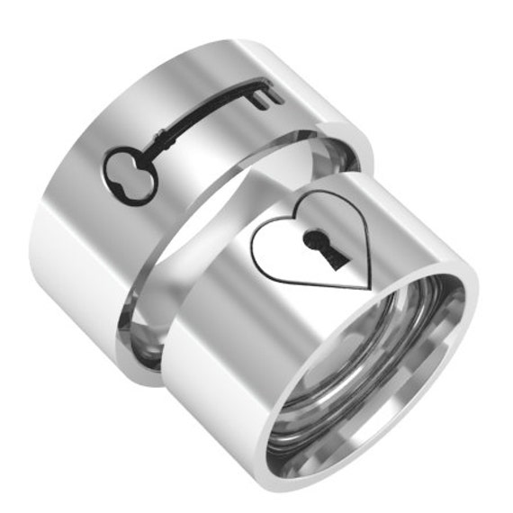my key matching ring silver band rings by ashyl