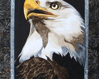 Liberty Eagle Toni Whitney Fusible Applique Quilt Pattern and Fabric Kit