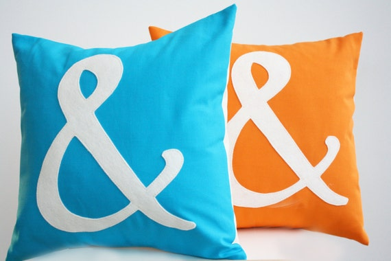 Items similar to Ampersand Pillow - You Choose the Color ...