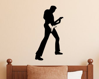 Rock Star Wall Decal - Guitar Player - Rock n Roll Decal - 2