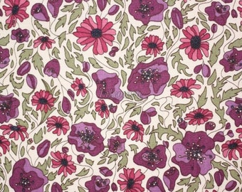 Liberty tana lawn printed in Japan - Lou Lou Isabella  - Raspberry mix