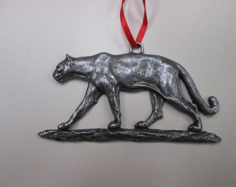 Cougar Ornament, Mountain Lion, Cats, ,Panther, Christmas, BYU, College of Charleston, Chicago State, Houston, SIU Edwardsville, Washington