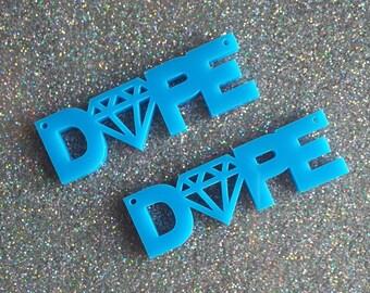 2 x Laser cut acrylic Dope pendants