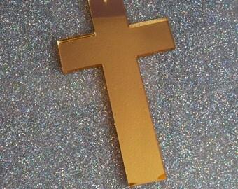 1 x Laser cut acrylic XL Cross pendant