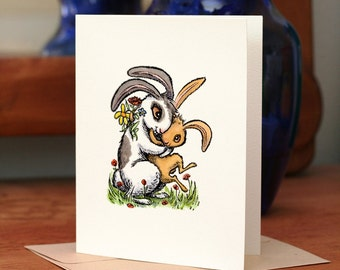 Snuggle Bunny, individual Mother's Day card.