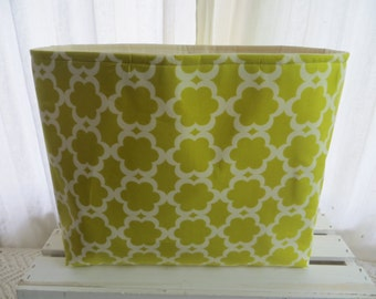 Fabric office file Organizer Storage Container 13 x 7 x 11 Moss Tarika Fabric only