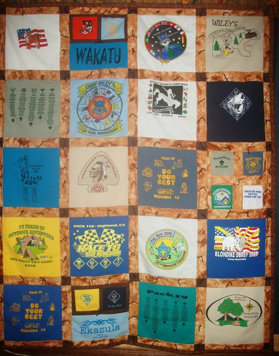 20 Panel T Shirt Quilt By Thewildthread On Etsy