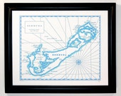Bermuda, Letterpress Printed Map
