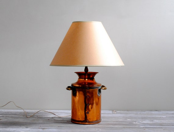Vintage Solid Copper Milk Can Lamp