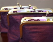 Custom Silk Dark Purple Clutches Bridesmaids Gift Wedding Bridesmaids Bags Customize Your Lolis Creations Clutch Purse Personalized Bags