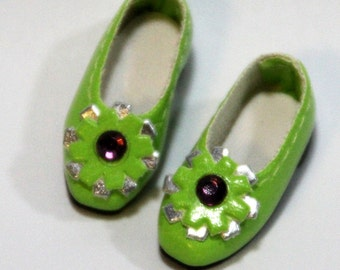 Green Retro Flower Slip-On for BJD Dolls Lati Yellow, PukiFee, Riley Kish, Bobobie Nissa, DIM Silf, Dollk S00067I