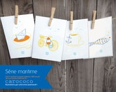 Carococo / Greeting card set / Nautical / by Carol-Anne Pedneault